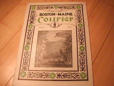 1896 Boston & Maine Railroad Courier Magazine August Many Great Ads Timetables