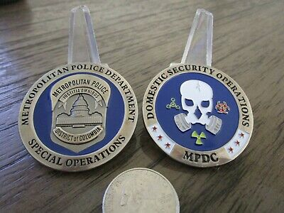 MPD MPDC Washington DC Metropolitan Police Special Operations Challenge Coin