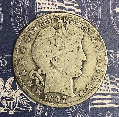 1907-D Barber Silver Half Dollar Collector Coin For Your Set Or Collection .