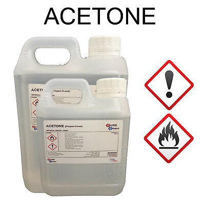 Pure Acetone - Acrylic Nail Remover / STRONG 99.8% 1L - 2L Trade Chemicals