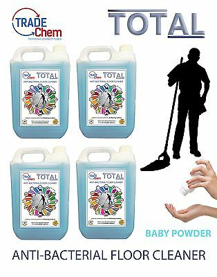 FLOOR CLEANER 5L /10L / 15L / 20L TOTAL Anti-Bacterial - Baby Powder Scented