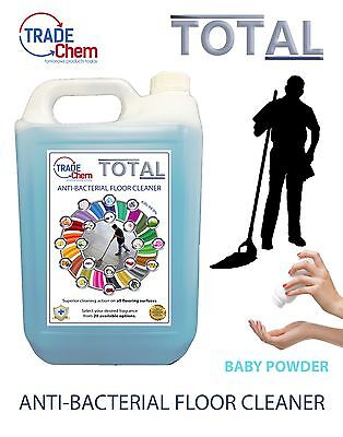 FLOOR CLEANER 5L TOTAL Anti-Bacterial - Baby Powder Scented - TRADE Chem