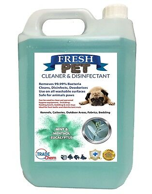 FRESH PET Kennel Dog Disinfectant Deodoriser Cleaner - EUCALYPTUS MINT & MENTHOL