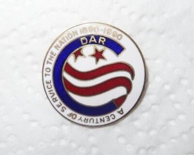 DAR Daughters of American Revolution Century of Service to Nation Pin JECaldwell