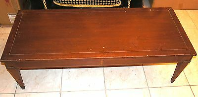 Vintage MID century solid wood coffee table 48 x 20 x 15 Antique NJ CAN SHIP