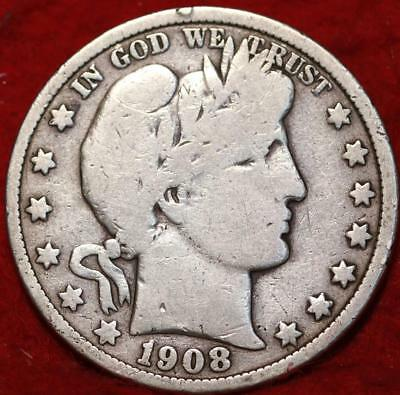1908-O New Orleans Mint Silver Barber Half Dollar