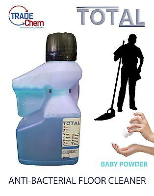 FLOOR CLEANER 250ml CONCENTRATED TOTAL Anti-Bacterial - Baby Powder (Makes 5L)