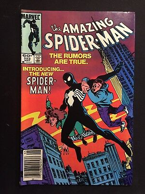 AMAZING SPIDERMAN COMIC BOOK # 252 ~ 1st BLACK COSTUME VENOM ~