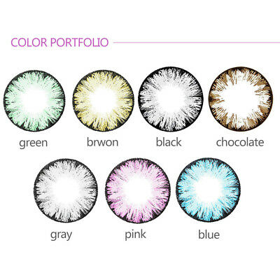 1Pair Colored Contact Lenses Lens Eyes Makeup Party Cosplay Gifts Moda