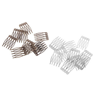 20pcs Blank Alloy Hair Comb Findings DIY Hair Accessory Making 26x40mm Craft