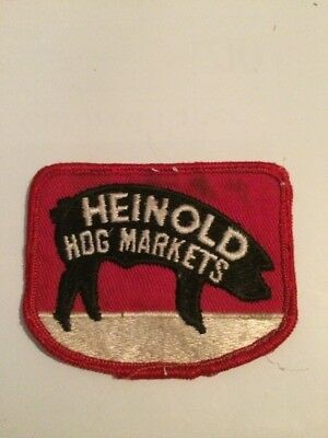 "Vintage HEINOLD HOG MARKETS Patch 2.5"" x 3.25"""