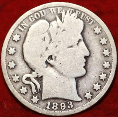 1893-O New Orleans Mint Silver Barber Half Dollar