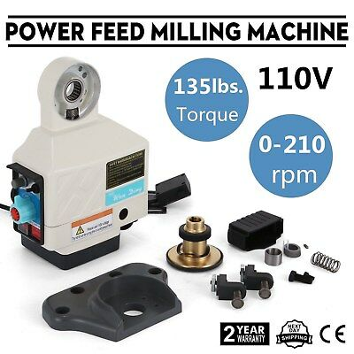 X Axis Power Feed Milling Machine Noiseless Jog Switch Small Volume Bargain Sale