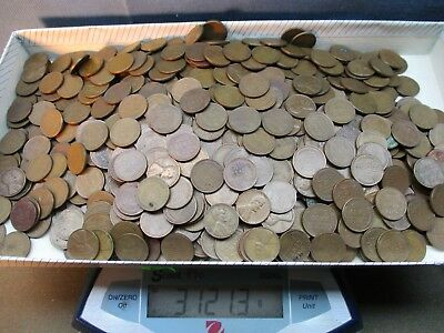 1000 US Lincoln Wheat penny Cent Coin Lot. estate sale find
