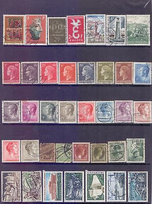 Luxembourg  Selection of 73, mostly used.