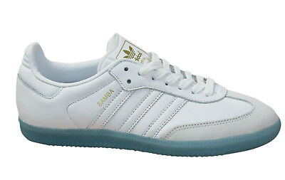 a670be52475acf Adidas Originals Samba Womens Trainers Lace Up Leather Shoes White BY2966 M6