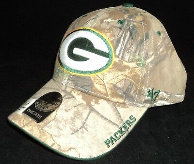 Green Bay Packers 47 Brand Cap Adjustable Hook Loop Realtree Frost Camo hat  NWT 46374a178