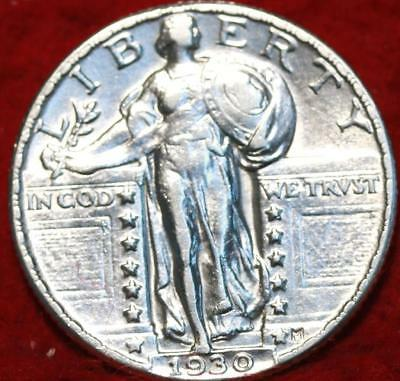 Uncirculated 1930 Philadelphia Mint Silver Standing Liberty Quarter