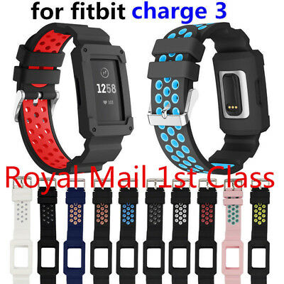 Soft Silicone Rubber Replacement Sport Band Strap Watch Band for Fitbit Charge 3