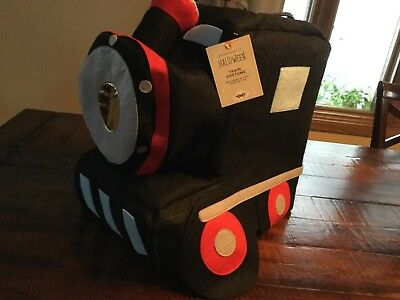 Pottery Barn Kids 3D Train Halloween Costume 3T Soft Fast Shipping NWT!