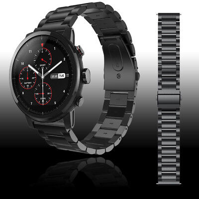 22mm Easy Fit Stainless Steel Watch Band Wrist Strap For HUAMI Amazfit Stratos 2