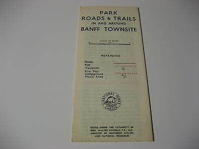 Vintage Park Roads in and Around Banff Townsite Brochure w/ Map
