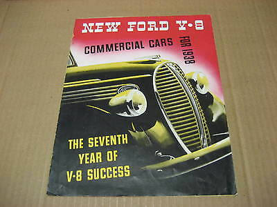 1938 New Ford V-8 Commercial Cars Foldout Brochure