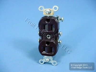 Eagle Brown COMMERCIAL Straight Blade Outlet Receptacle NEMA 5-15 15A Bulk CR15B