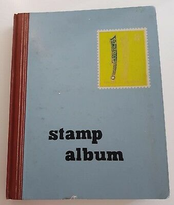 EMPTY STAMP ALBUM 14 DOUBLE PAGES = 28 PAGES with 7 SLOTS & PROTECTIVE INTERLEAF