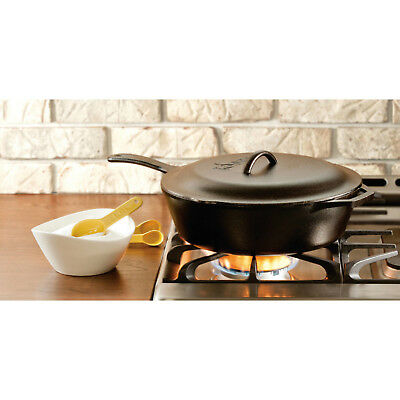 "Lodge 5 Quart, 12""-diameter, Deep Skillet ""Chicken Fryer"" L10CF3, with Cast Iron"