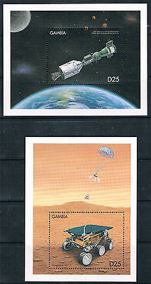 Gambia 1999 Space Exploration 2x MS SG 3120 MNH