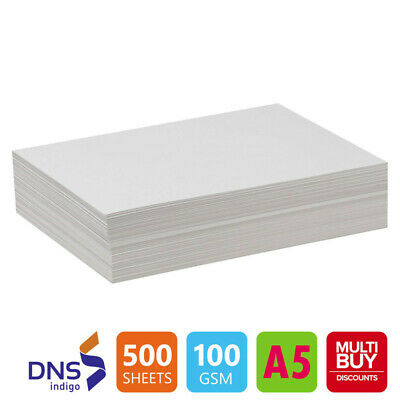 500 Sheets A5 LUXURY 100gsm ULTRA WHITE Paper High Quality Copier Printer Laser