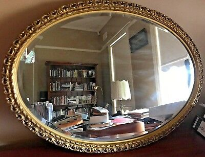 Large  Antique French Style Gilt Mirror
