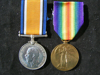 Ww1 British War & Victory Medal Pair Coles Wounded Ypres 5Th Canadian Infantry