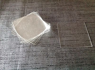 Clock Glass square 70mm Acrylic 2 sides have 5mm bevel 75x58mm £6.99