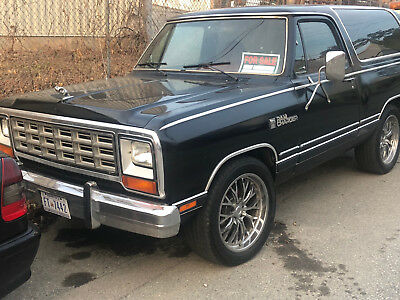 1985 Dodge Ramcharger Royal SE 1985 Dodge Ramcharger Royal SE 5.2L 2WD Automatic Great condition! Low Reserve!