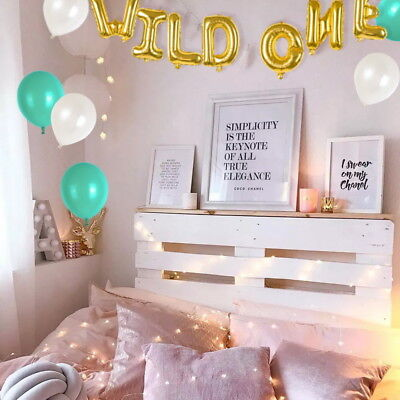 16inch WILD ONE Kids First Birthday Balloons Baby Girl Boy 1St Bday Party Supply