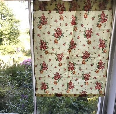 """Stunning Vintage french Shabby Chic Cotton Floral Fabric 21""""/27"""""""