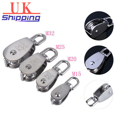 Steel Swivel Stainless Lifting Rope Single Wheel Pulley Block Rigging
