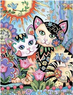 """16X20/"""" Paint By Number Kit DIY Acrylic Painting on Canvas Cat SPA1656"""
