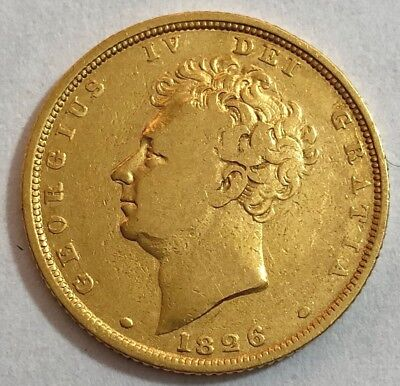 1826 King george IV Gold Bare Head Sovereign