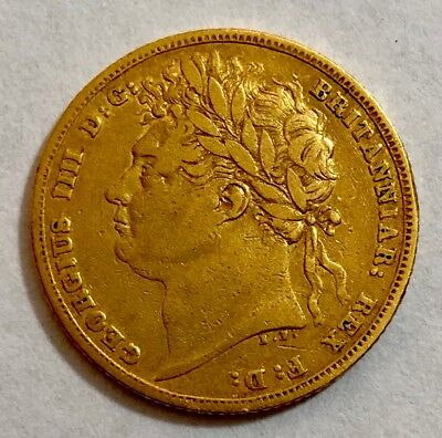 1822 King george IV Gold Bare Head Sovereign