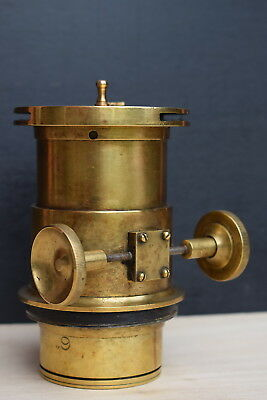 Antique Victorian Plate Camera Lens old vintage photography brass