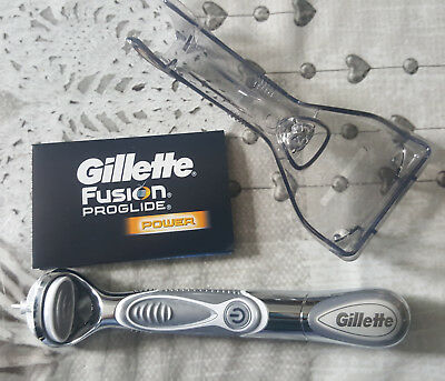 Manche de rasoir Gillette Fusion Proglide POWER + son support (NEUF)