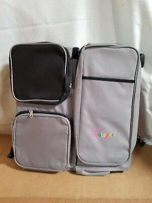 3 in 1 Baby Travel Bed + Diaper Bag + Change Station - Top Quality, Gray & Black