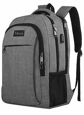 Travel Laptop Business Anti Theft Slim Durable Backpack USB Port Water Resistant