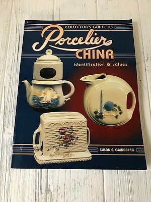 Porcelier China Identification Collectibles Reference Book Soft Cover 1996