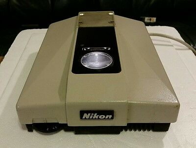 Nikon Labophot base  powers up, lite comes on, for parts