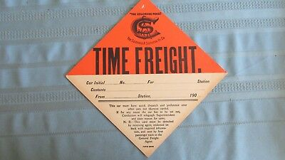 1900 Colorado & Southern Railway Time Freight Havy Paper Box Car Tag-Belt Buckle