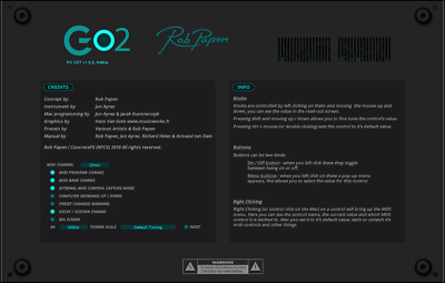New Rob Papen Go2 Plug-in Virtual Synthesizer Mac/PC VST AU AAX